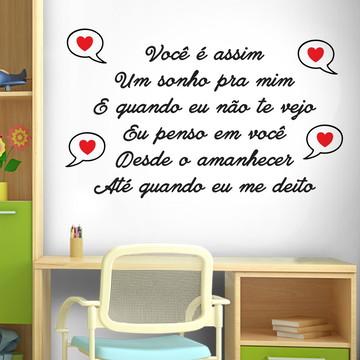 Adesivo Frase Você É Assim Um Sonho Pra Mim Tam (153x98)cm