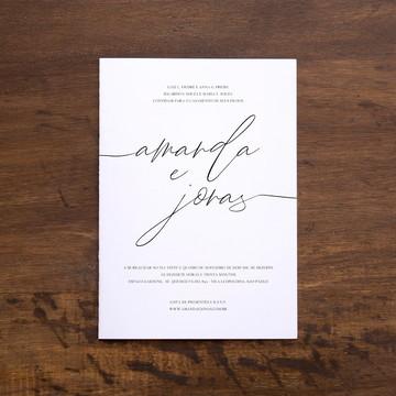 Convite Digital - Manuscrito