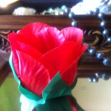 Forma em tecido Botão Rosa