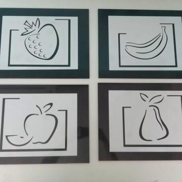 4 Quadros Decoração Cozinha