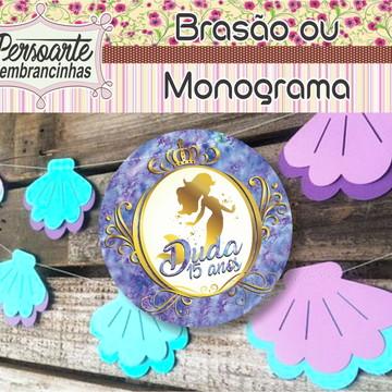 Brasão ou Monograma 15 anos debutante
