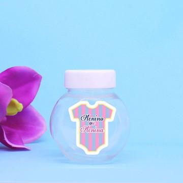 Mini-baleiro de plástico - chá de revelação do sexo do bebê