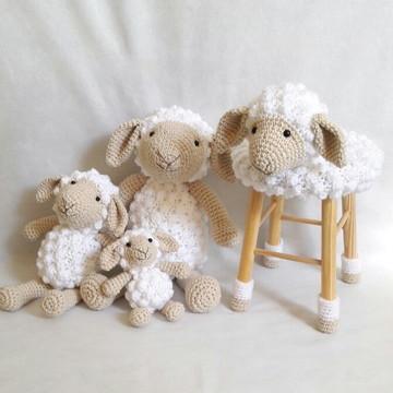 kit Família de ovelhas decoração + GRÁTIS 1 ovelhinha para c