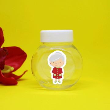 Mini-baleiro de plástico - chapeuzinho vermelho vovó