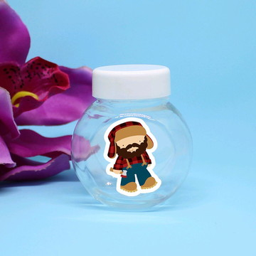 Mini-baleiro de plástico - chapeuzinho vermelho caçador