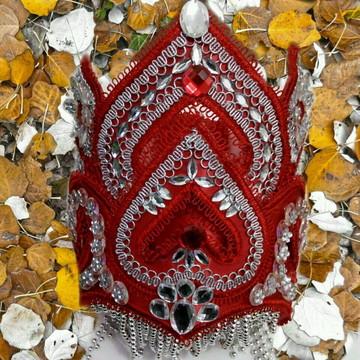 Paramenta de Iansa Kit Completo Ade Oya Vermelha