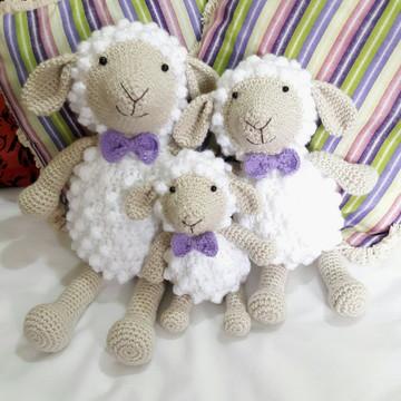 Kit berço ovelhas com gravatinhas