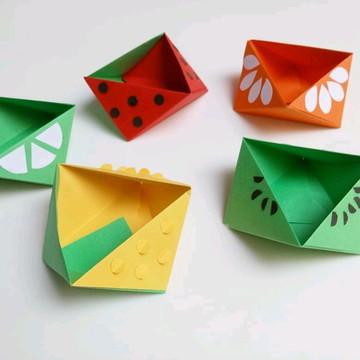 Caixa Frutas Sortidas   Forminha para doces em Origami