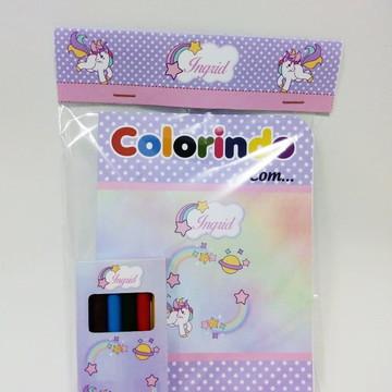 Kit de Colorir Personalizado Unicórnio