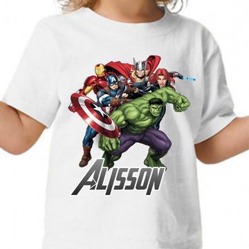 ef655594fd Camisa Vingadores Avengers Blusa Personalizada