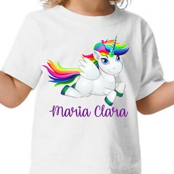 Camisa Unicornio Personalizada Ponei Arco Iris