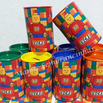 """100 Cofrinhos tema Lego"""""""