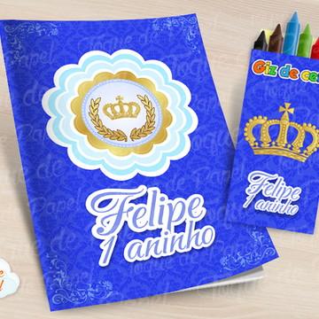 Kit colorir com giz de cera Reinado