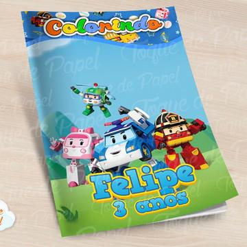 Revista colorir Robocar Poli