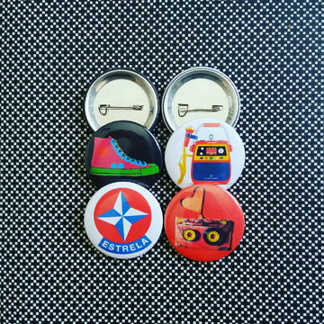 Kit (4) bottons: anos 80