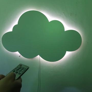 Luminária com Dimmer Controle de Intensidade Nuvem MDF LED
