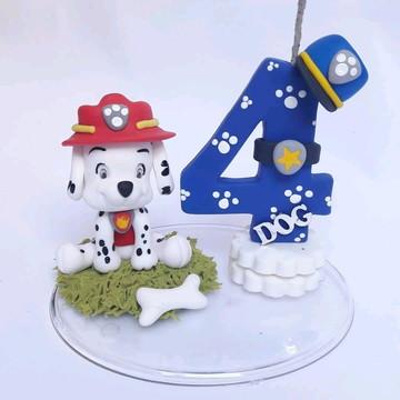 Topo de bolo patrulha canina biscuit
