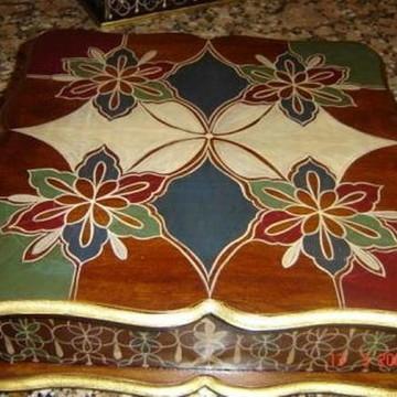Caixa estilo marroquino