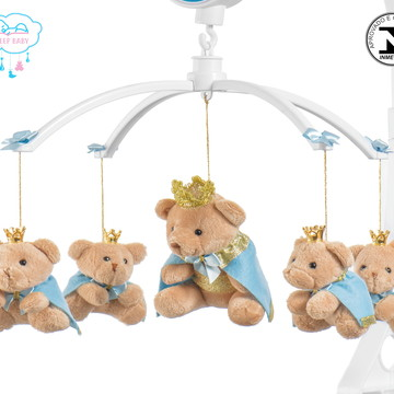 Móbile para berço bebê menino príncipe azul bebê