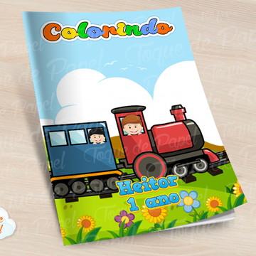 Revista colorir Trenzinho Trem