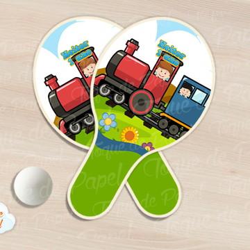 Raquete de ping pong Trenzinho Trem