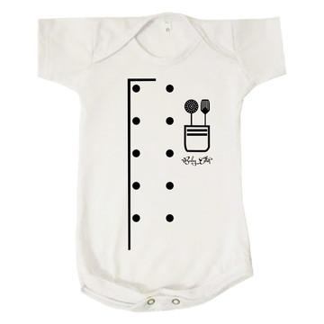 Body Bebê Chef de Cozinha Profissão Baby Cozinheiro