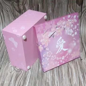 Caixa MDF Decorada - FLor Cerejeira - Oriental 2