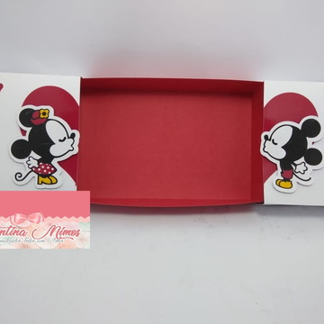 Arquivo Caixa Deslizante Silhouette Mickey Minnie SIMPLES