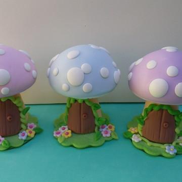 Cogumelos casa de fada- Tema Jardim. - PROMOÇÃO!!!