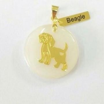 Pingente Madreperola Pet Raças Beagle