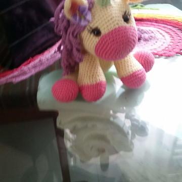 Unicórnio Pegasus Crochê