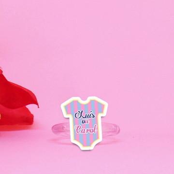 Porta-guardanapo com texto- chá de revelação do sexo bebê