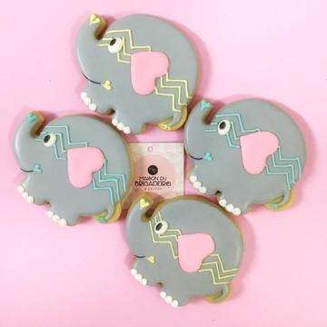 Biscoito Decorado | Elefante | Chá de Bebê