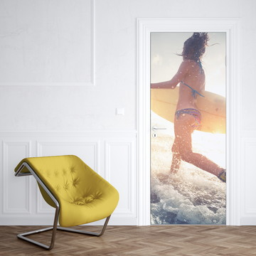Adesivo de Porta Surfista Mulher Boyfriend Girl Radical
