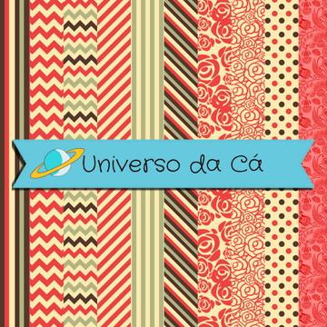 Kit Digital - Scrapbook Salmão