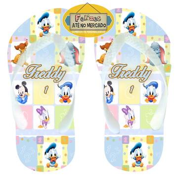 Chinelo Aniversário Mickey e Minnie Baby Cute - Que lindos!