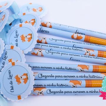 Lápis Raposinha chá de bebê