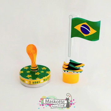 Kit festa latinha + tubete - Copa do mundo