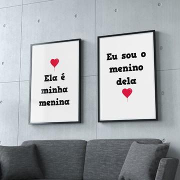 Poster Menina e Menino (Digital)