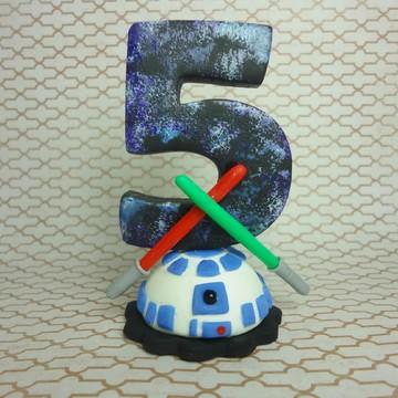 Vela de biscuit decorada Star Wars