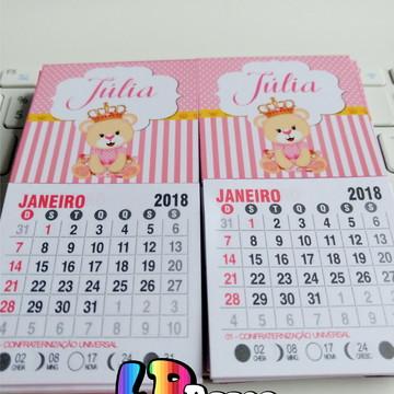 Calendario Rosa 2020.Mini Calendario Com Ima Ursinha Rosa 2020 Elo7