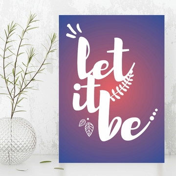 Quadro / Placa - Let it be 133 PEQUENO