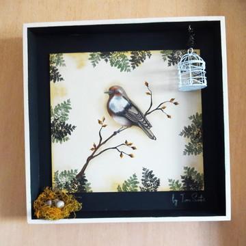 Quadro Decorativo Pássaro fora da Gaiola