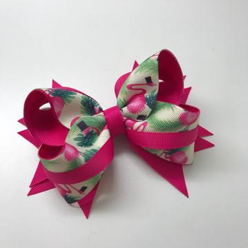 Laço Boutique com Spike Flamingos e Pink