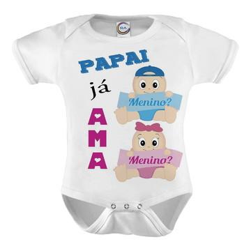 Body Infantil Papai Já Ama