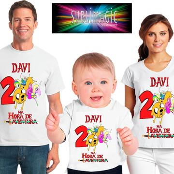 Kit 3 Camisetas Hora de Aventura