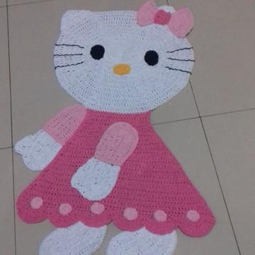 tapete croche Hello Kitty