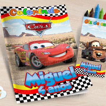 Kit colorir com giz de cera Carros