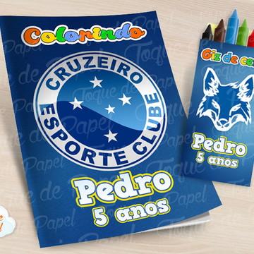 Kit colorir com giz de cera Cruzeiro