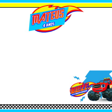 Lousa Blaze and the Monster Machines + BRINDE